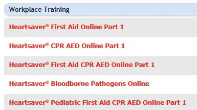 Heartsaver® First Aid and CPR classes