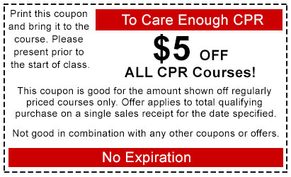 $5 Off All CPR Courses Coupon